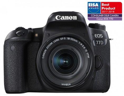 Canon EOS 77D 1+2 év garanciával** + EF-S 18-55/4-5.6 IS STM