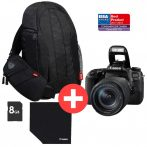 Canon EOS 77D 1+2 év garanciával** + EF-S 18-135/3.5-5.6 IS nano USM Value Up Kit