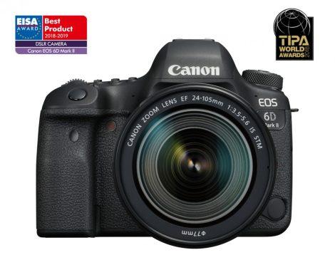 Canon EOS 6D mark II 1+2 év garanciával** + EF 24-105mm /3.5-5.6 IS STM + ajándék*