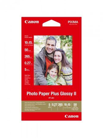 Canon Photo Paper Plus Glossy II PP-201, 10x15cm méretű - 50 ív