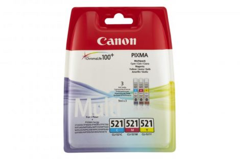 Canon CLI-521 3-in-1 tintapatron multipack