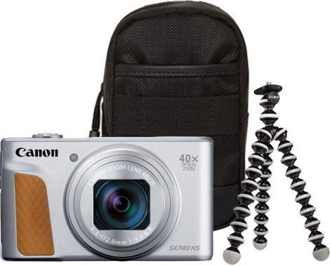 Canon PowerShot SX740HS Travel Kit - ezüst színű