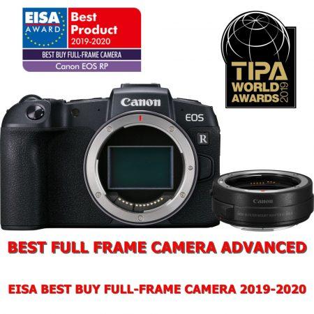Canon EOS RP váz 1+2 év garanciával** + EF-EOS R adapter (3380C023)