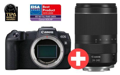 Canon EOS RP váz (1+2 év garanciával**) + RF 24-240mm / 4-6.3 IS USM (3380C033)