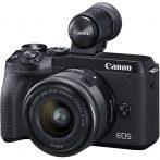 Canon EOS M6 mark II váz + EF-M 15-45mm/3.5-6.3 IS STM + EVF-DC2