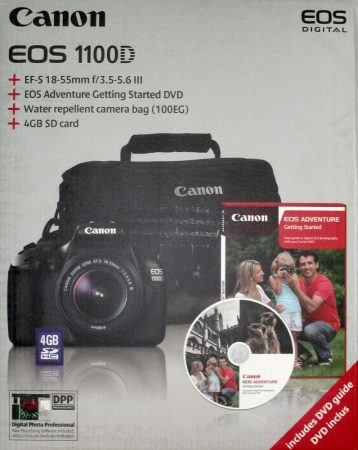 Canon EOS 1100D + EF-S 18-55mm/4.0-5.6 IS II (4 Farben) (schwarz)