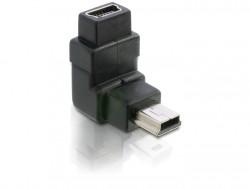 Delock mini USB dug-aljzat (90 fokos B)
