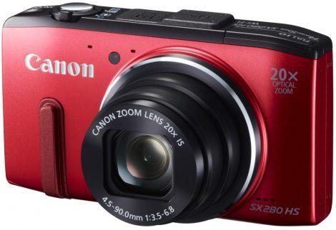 Canon PowerShot SX280HS (GPS) (Wi-Fi) (2 színben) (piros)