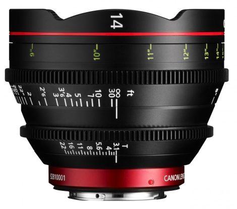 Canon Cine Prime CN-E 14mm / T3.1 L F (meter) (EF bajonett)
