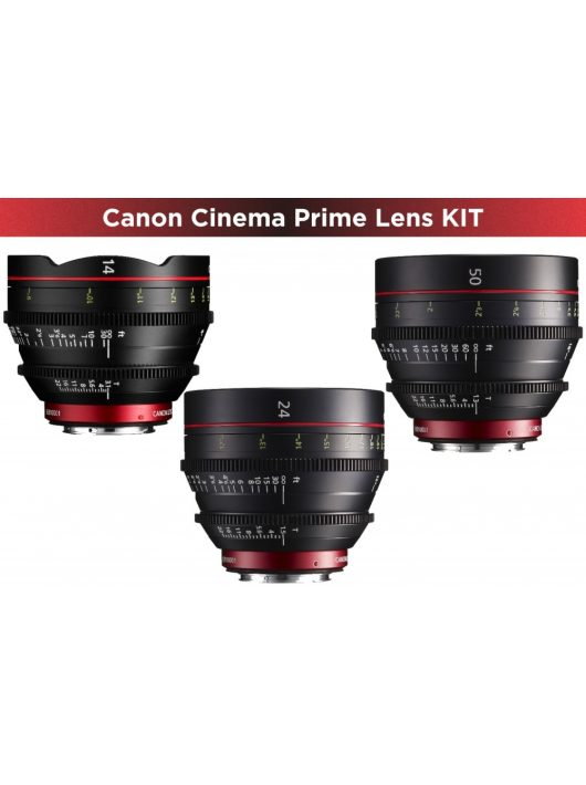 Canon Cinema Prime 3 Lens KIT (14/24/50) (EF bajonett)