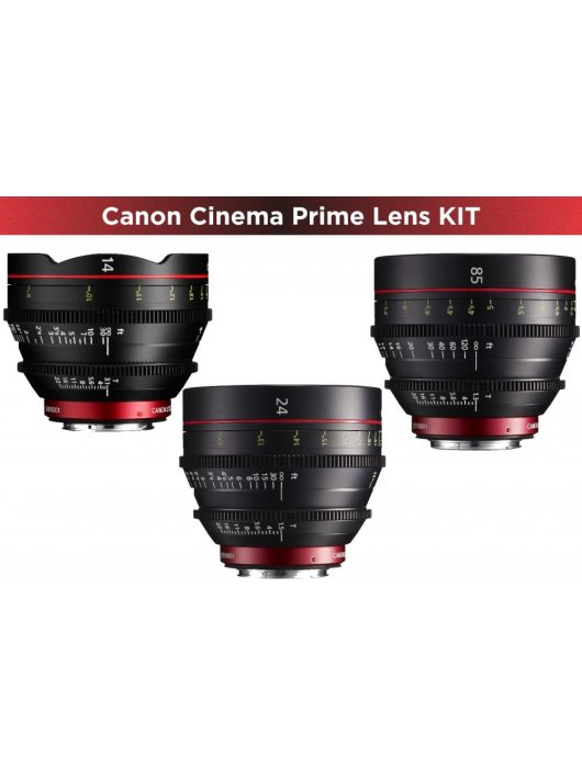 Canon Cinema Prime 3 Lens KIT (14/24/85) (EF bajonett)