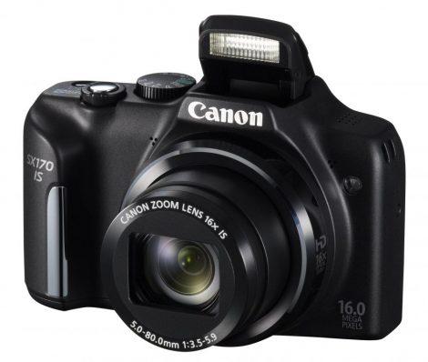 Canon PowerShot SX170is (2 színben) (fekete)