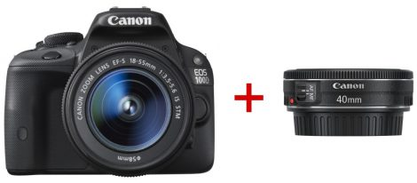 Canon EOS 100D + EF-S 18-55mm / 3.5-5.6 IS STM + EF 40mm / 2.8 STM