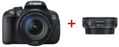 Canon EOS 700D + EF-S 18-135mm / 3.5-5.6 IS STM + EF 40mm / 2.8 STM