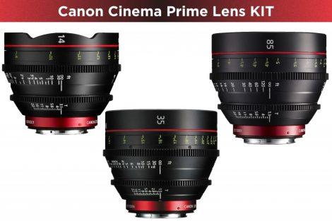 Canon Cinema Prime 3 Lens KIT (14/35/85) (EF bajonett)
