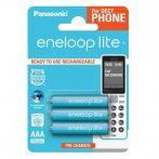 Panasonic eneloop lite BK4LCCE-3DE 550mAh akkumulátor - AAA méretű, 3 darab