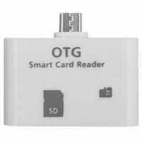 OTG microUSB kártyaolvasó (fehér)