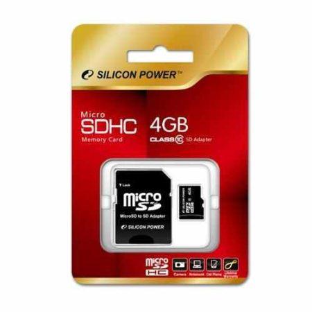 Silicon Power micro SDHC 4Gb (class 10)