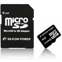 Silicon Power micro SDHC 8Gb (class 4)